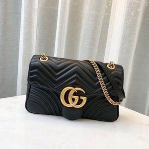 💕Gucci GG Marmont Medium Black